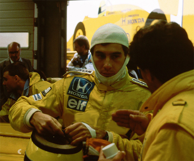 Ayrton Senna in 1987