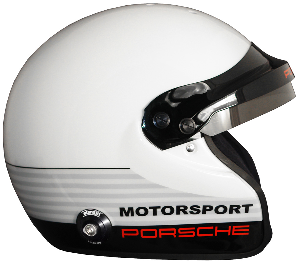Porsche Motorsport IVOS-Open Face helmet with FIA 8860-2010 standard