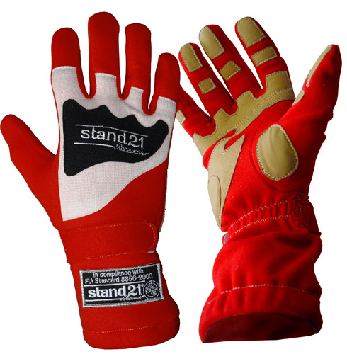 Stock red Daytona gloves