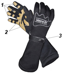 Dragster racing gloves technical data